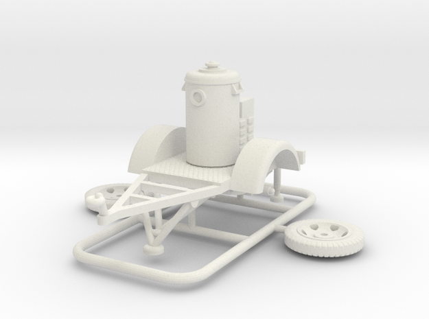 1/72 T-Stoff Vorwaermeranhaenger in White Natural Versatile Plastic
