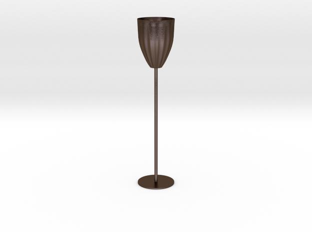 Goblet in Polished Bronze Steel