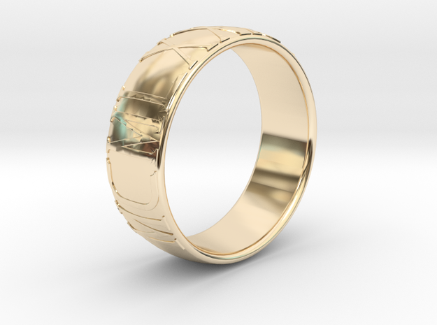 """""""1985"""" ring - Roman numerals in 14k Gold Plated Brass"""