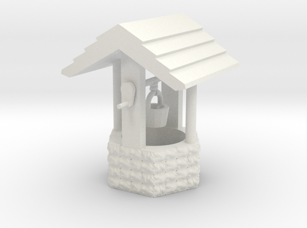 Wishing Well Base Block01 'O' 48:1 Scale in White Natural Versatile Plastic