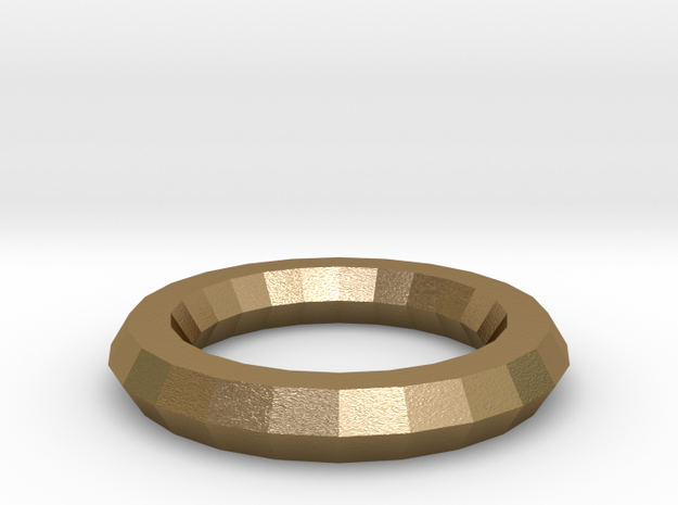Ring in Polished Gold Steel: Extra Large