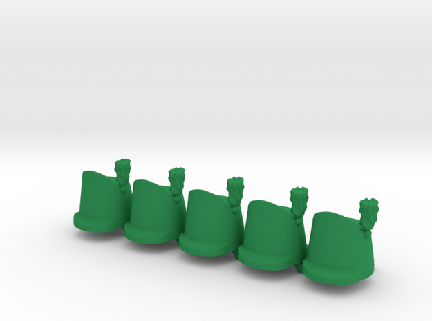5 x British Shako Wellington  in Green Strong & Flexible Polished