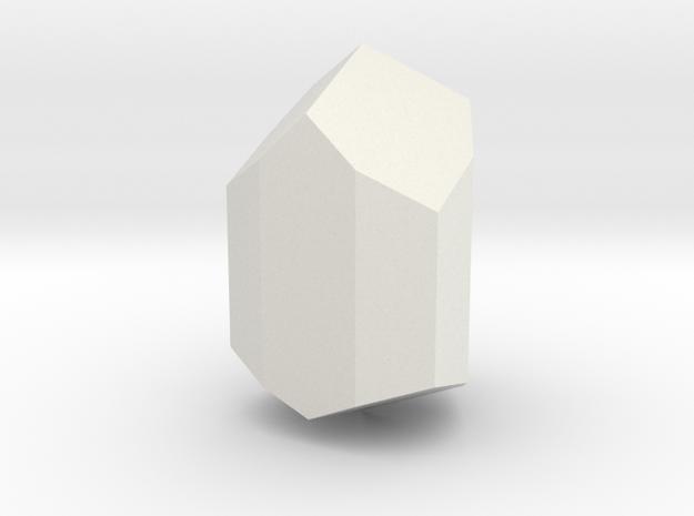 Tourmaline 2, 25 mm in White Natural Versatile Plastic