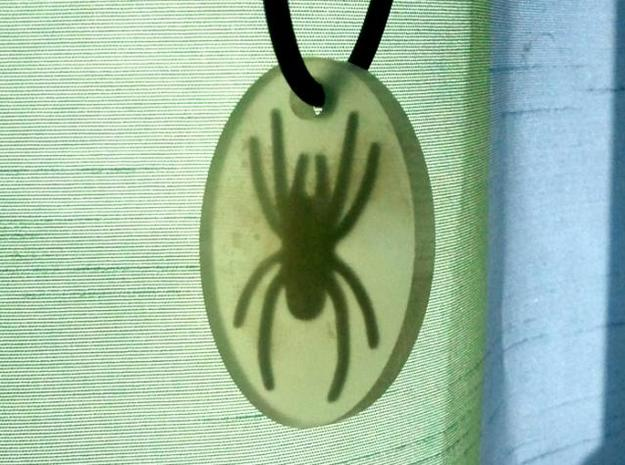 "Spider in ""Amber"" 3d printed Photo 1"