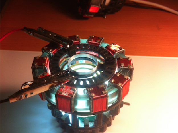 Arc Reactor Master 3d printed This is an example of my finished RT, printed from all of my pieces. The only piece missing on the inside is the Chassis, which wasn't on the movie prop.