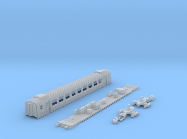 Einheitswagen III - 2. Klasse mit Klimaaufbauten in Smooth Fine Detail Plastic
