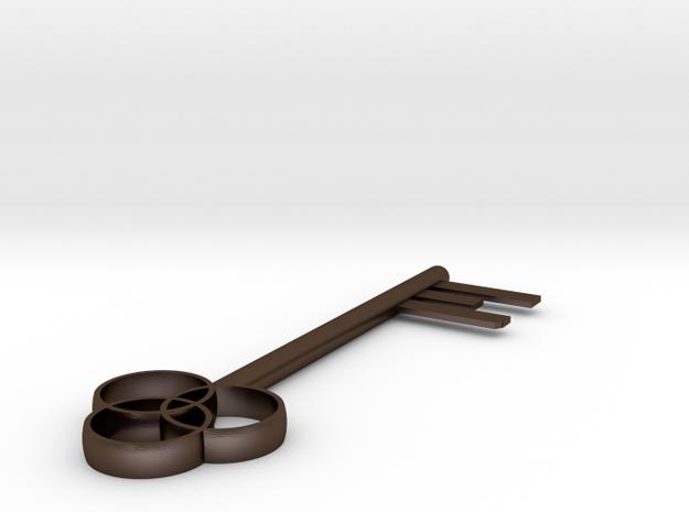 Key in Polished Bronze Steel