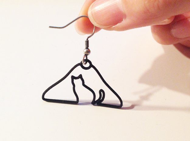 Cat Hanger Earrings