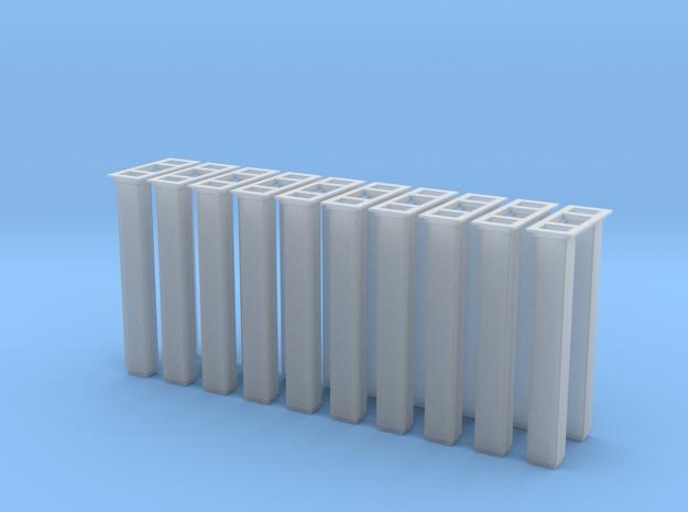 1/64 5000 Grain leg trunking 10pcs in Smooth Fine Detail Plastic
