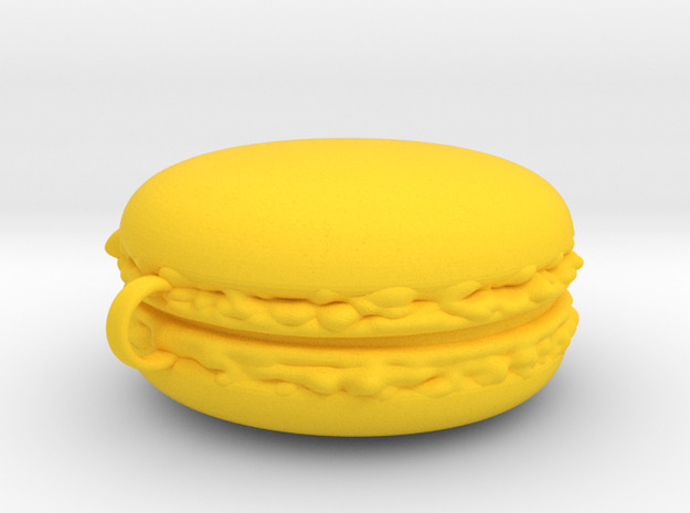 Giant Macaron Christmas Decoration in Yellow Processed Versatile Plastic