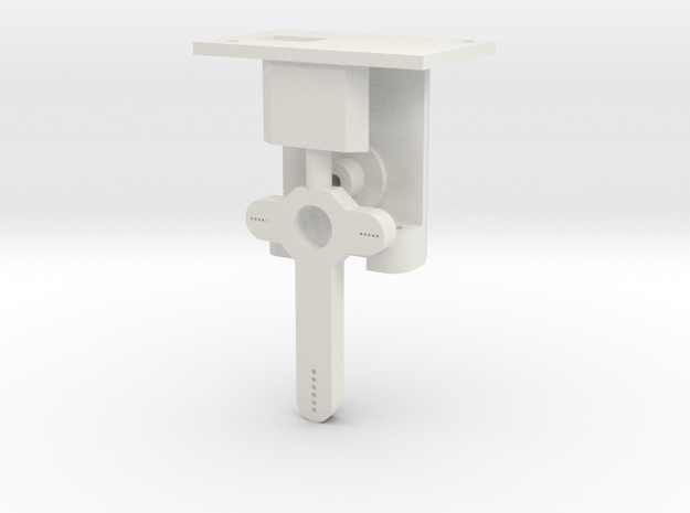 HO Steel Post Single Mech - FUD Base & Details in White Strong & Flexible