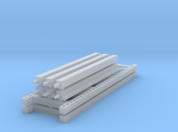 1/64 3 high 8ft Pallet Rack in Smooth Fine Detail Plastic
