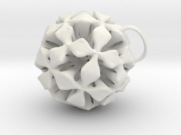P-four clover jewel in White Natural Versatile Plastic