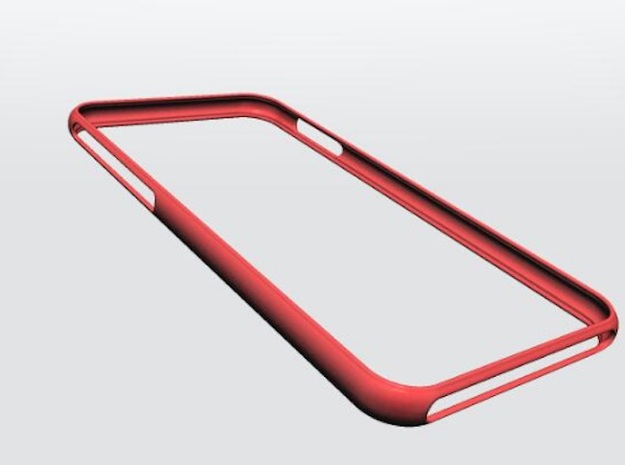 Bumper for iPhone X in Red Strong & Flexible Polished