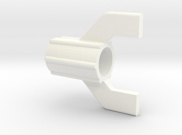 Captain Action -Launcher End Caps in White Processed Versatile Plastic