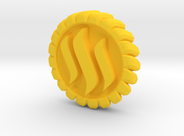 STEEM Coin in Yellow Processed Versatile Plastic