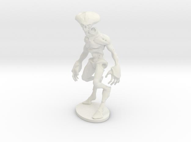 Alien Brute in White Natural Versatile Plastic: Small