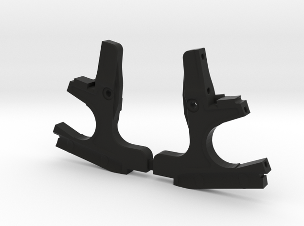 3DRC DEX410 FRONT BULKHEAD SET-001 in Black Natural Versatile Plastic