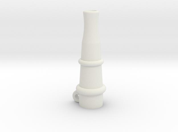 Hookah mouthpiece in White Strong & Flexible
