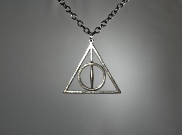 Deathly Hallows Necklace - Rotating Center 3d printed 1