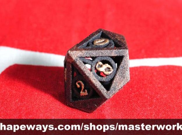 Deathly Hallows d10 3d printed Plastic with Copper & Gold Rub'n'Buff