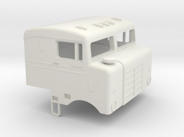 1/32 1955 Kenworth Bullnose Cab in White Natural Versatile Plastic