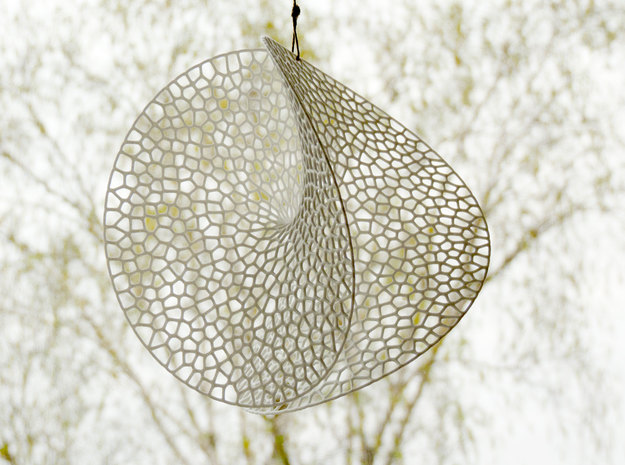 Enneper Voronoi Dreamcatcher in White Strong & Flexible Polished: Large