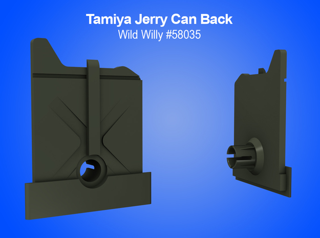 Tamiya RC Jerry Can (back) Insert for Wild Willy in White Strong & Flexible