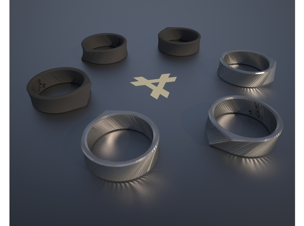 Q - Ring / Size 10 3d printed