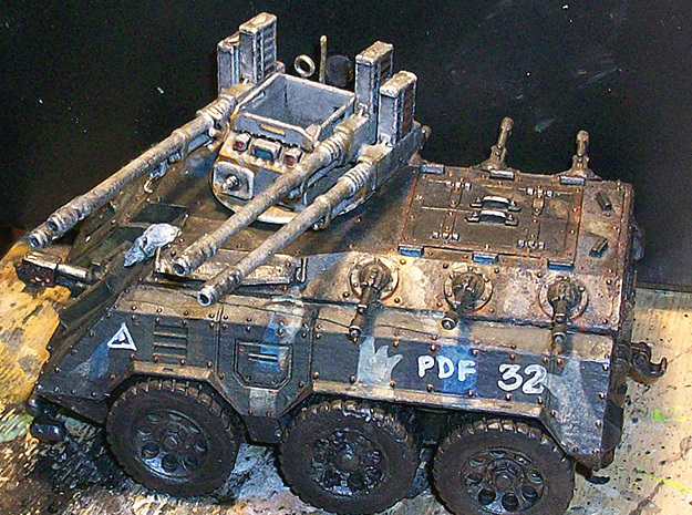 28mm Kimera-Hydr anti-aircraft turret - simplified in White Processed Versatile Plastic