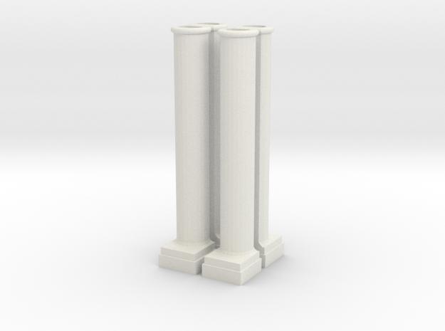Arch Side Pillar in White Natural Versatile Plastic