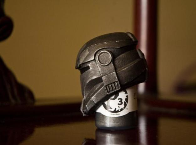 Special Ops Helmet 3d printed The helmet after getting a paintjob. (Side View)