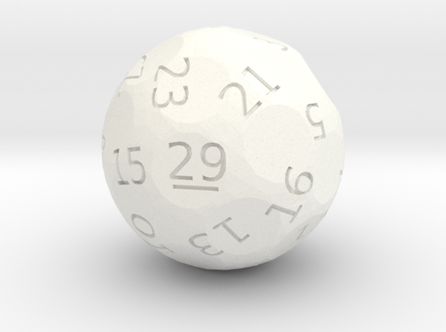 d29 oddball die in White Strong & Flexible Polished