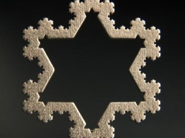 Koch Snowflake Ornament (4th Iteration) 3d printed Koch Snowflake Ornament