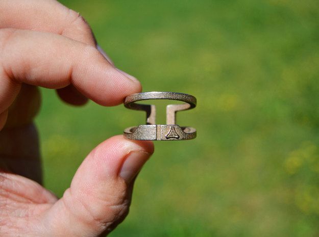 Split Frame Beer & Soda Bottle Opener Fashion Ring