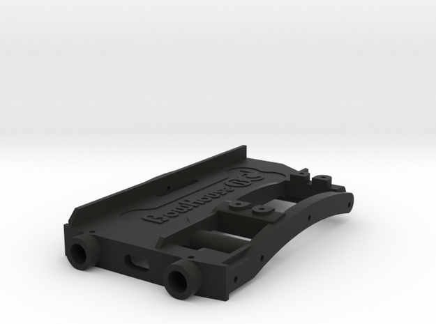 HD Battery Tray + Servo & Bumper Mount for SCX10 2 in Black Natural Versatile Plastic