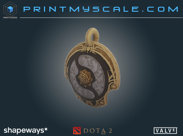 Dota 2 Aegis  in Full Color Sandstone