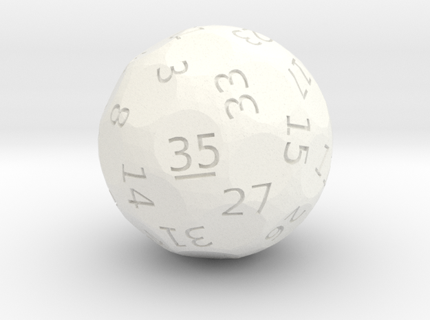 d35 oddball die in White Strong & Flexible Polished