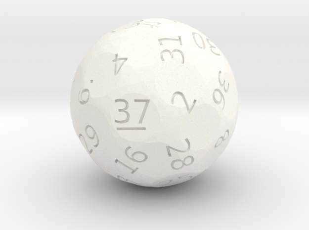 d37 oddball die in White Strong & Flexible Polished