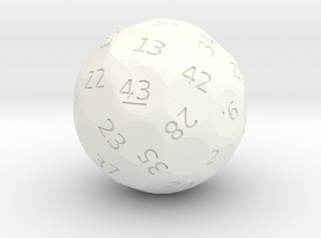 d43 oddball die in White Strong & Flexible Polished