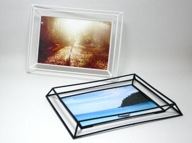 3D Photo Frame 3d printed 3D Photo Frame Black and White