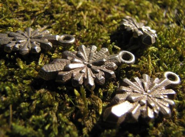 Crystal Earring in Polished Bronzed Silver Steel