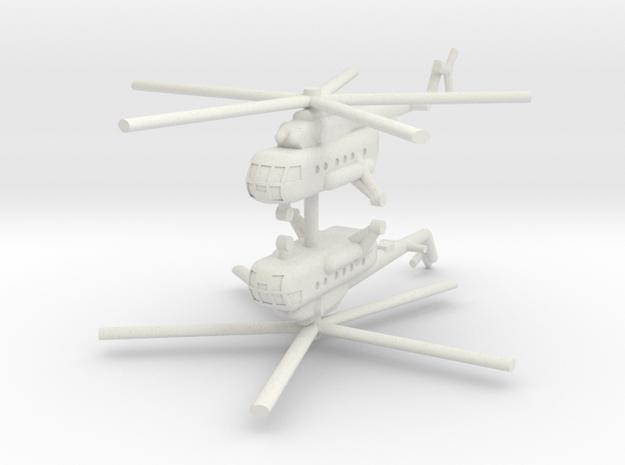 1/220 Mil Mi-17 Hip (x2) in White Natural Versatile Plastic