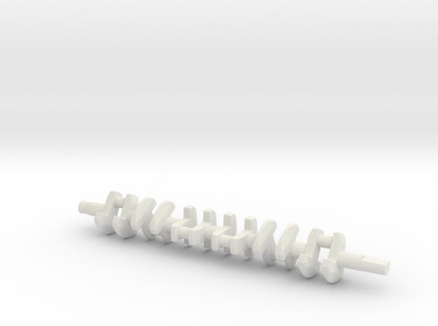 ScaledEngines_2JZ-crankshaft in White Natural Versatile Plastic