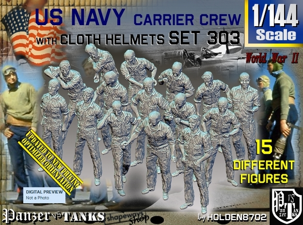 1/144 USN Carrier Deck Crew Set303