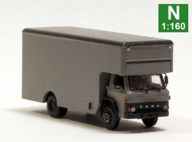 Ford D series moving truck N scale in Smoothest Fine Detail Plastic