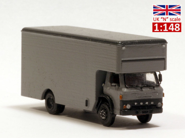 Ford D series moving truck UK N scale in Smoothest Fine Detail Plastic