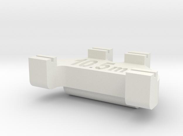 HOn3 Track Gauge - Code 40 in White Natural Versatile Plastic