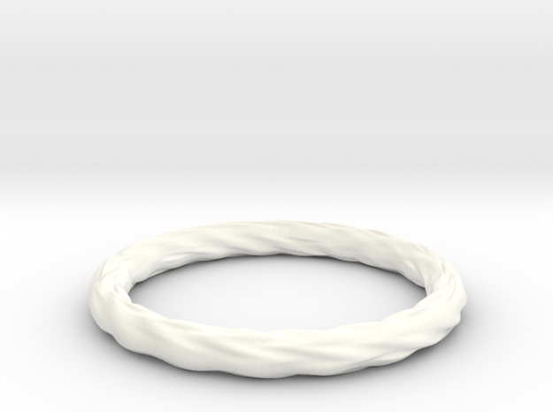 Valley Series Bracelet 69mm in White Strong & Flexible Polished