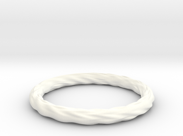 Valley Series Bracelet 63mm in White Strong & Flexible Polished